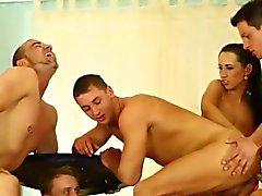 Bi sluts lick and finger in orgy