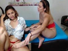 Jana Cova och Carmen Lesbian Foot Fetish