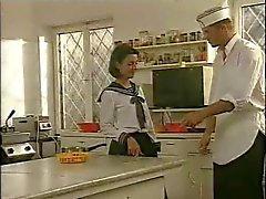 Keuken Voorbereiding van schoolmeisjes