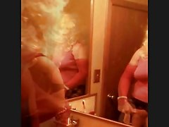 Slut in the mirror