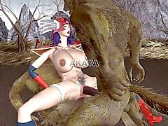 3D porn: wolf senshi