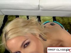FirstClassPOV - Sarah Vandella sucking a big dick, big boobs & big booty