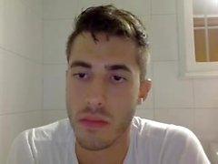 Ragazzo Handsome Greco Con Nizza Cazzo Su Camma