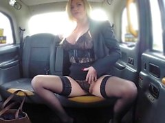 Fake Taxi Great tits sexy MILF in black lingerie