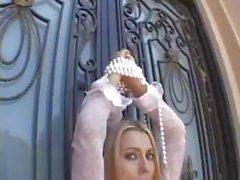 Блондинка Babe Имбирь Ли это Буфет любви течение твердый член