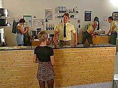 German Cagna scopata nel per ufficio polizia