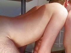 Girlfriend using her submissive boy while watching porn