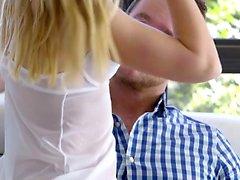 Sheer lingerie helps coed Alexa Grace seduce her man into