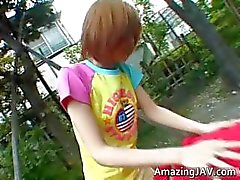Adolescente ruiva asiático se apanhada por part4