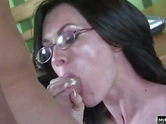 Brandi Edwards is a very sexy librarian, who wears her glasses and a