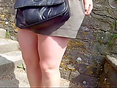 uitgepakte rok , pantieless in swanage