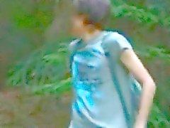 трахают в лес