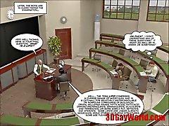 primeira transa alegres do tempo de quadrinhos do exame 3d cartoon gays animated