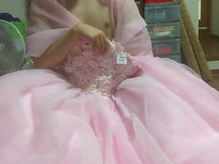 color dress onanie