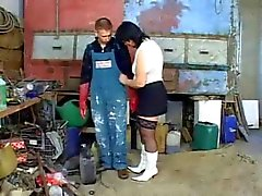 BBW Mature Fucked in Tool Shed