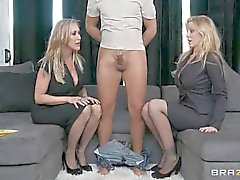 Randy Brandi Love & Julia Ann play with this dick