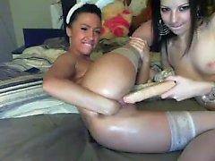 Stockings milf toys lesbian babe
