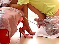 Adoración china del pie y trabajo del pie