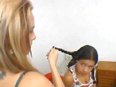 Бразилию Facesitting Эрике В.С. Mallerwom