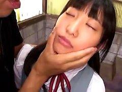 Japanese teen giving a hot blowjob Maid