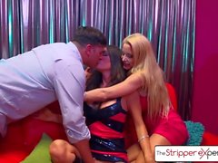 The Stripper Experience Jessica Jaymes & Helly Hellfire fucking a big dick