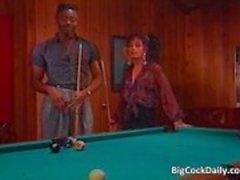 Ongelooflijke sex op pool tafel waar