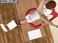 Eccitata in 3D prigioniero vignetta scopata a dopo i corsi