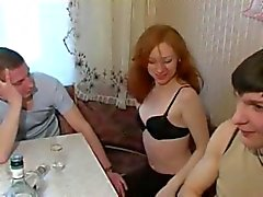 Любители - русске Бисексуал - красивый рыжий MMF