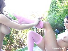 Lesbian foot fetish fun with Taylor Vixen and Emily Addison