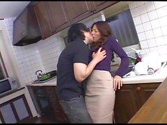 Hot Mommy in kitchen