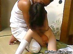 Haru Sakuragi Aasian tyttö saa kuumaa seksiä