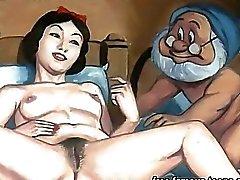 Snowwhite sekä kääpiöiltä hentai orgy