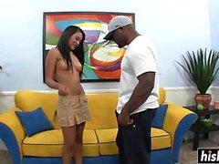 Black guy bangs a sweet friend