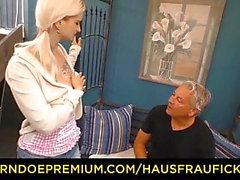 HAUSFRAU FICKEN - Blond tysk fru hatar på man
