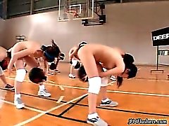 Cute asian babes get horny working out part4