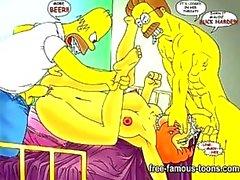 Los Simpson del hentai porno la parodia