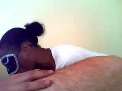 Gros seins ébène petite amie Serena pipe