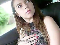 Busty teen Marina fucked for a free ride