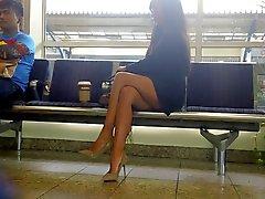 Legs atractivos y altos talones