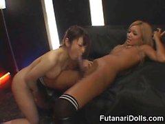 Hot Futanari Fucks a Club Girl!