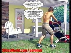 DESPERATE HUSBANDS 3D Bisexual MMF Cartoon Animated Comics or Hentai Toons