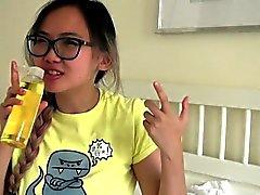 Tetona asiática adolescente adolescente se aceitado masaje