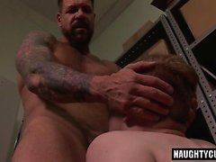 Big dick gay dildo and cumshot