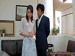 Horny japanese mature babes sucking part2