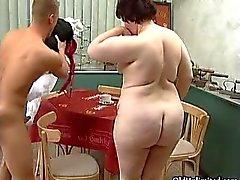 Femme mûre gras passe la succion crazy