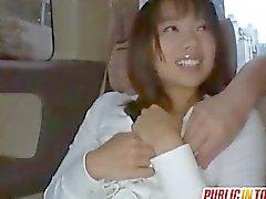 Haruka fucks sucked dick in the car