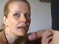 Zweedse dame Perversan zuigt