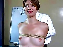 Busty waitress punished