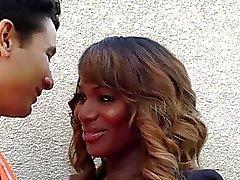 Ebony TS Chastity bangs wild her lover