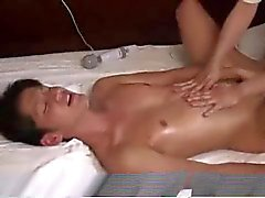 Sensual massage with asian guy